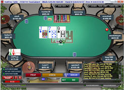Action Poker table